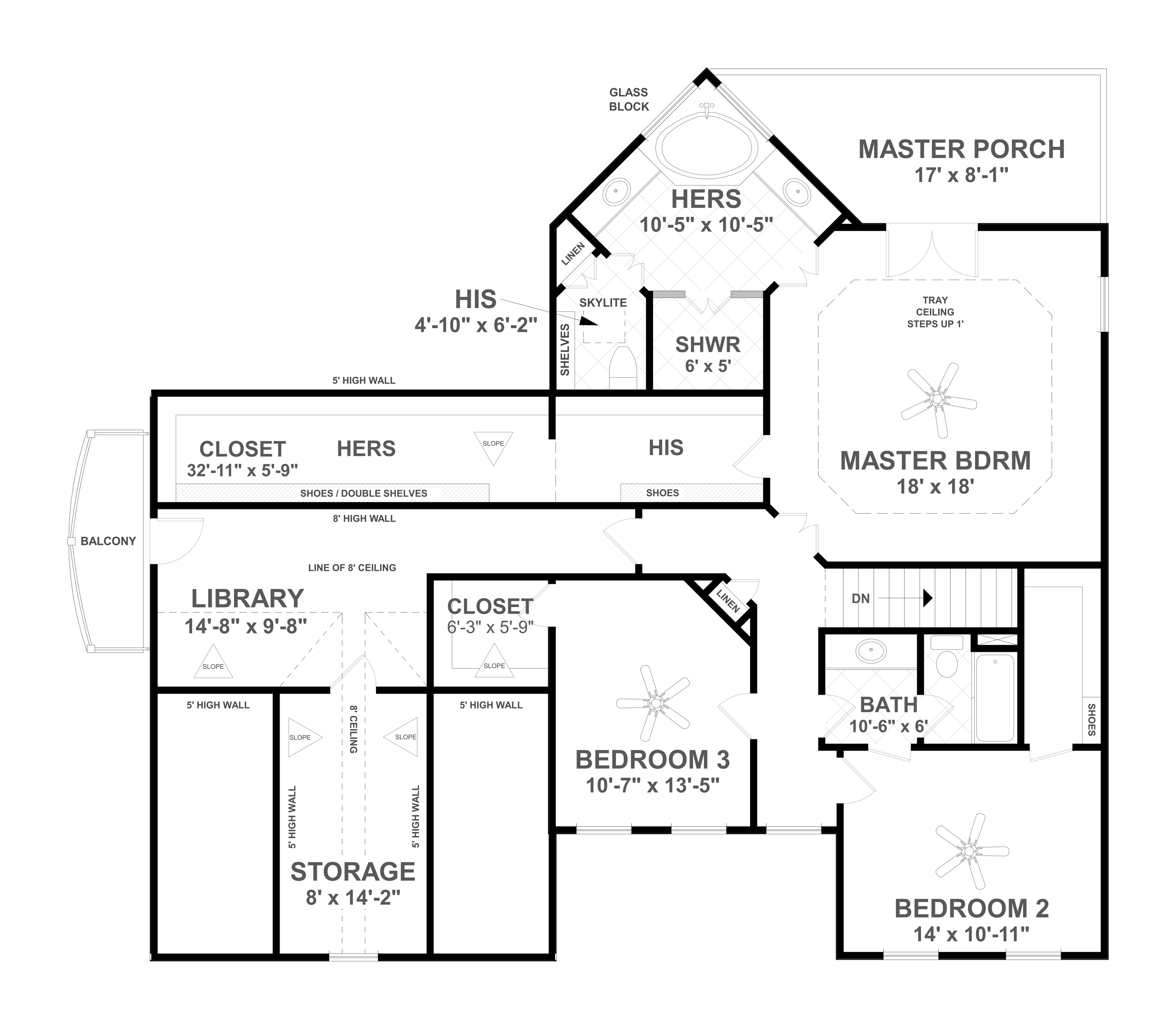 Second Floor image of Featured House Plan: BHG - 4710