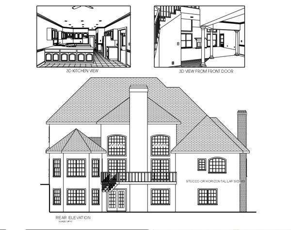 Rear Elevation image of Featured House Plan: BHG - 6320