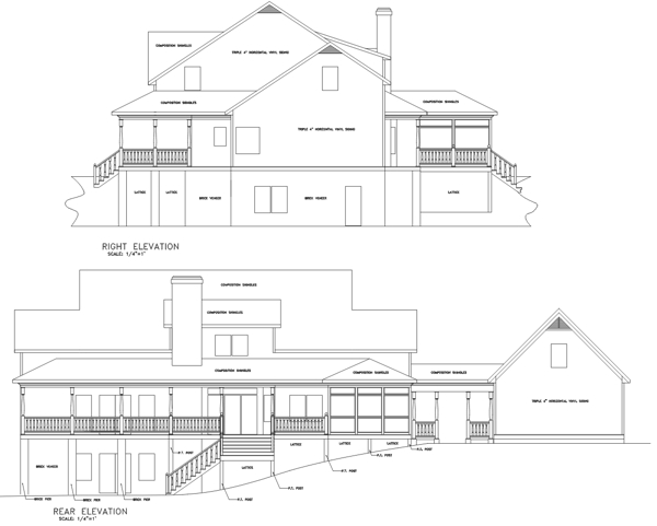 Rear Elevation image of Featured House Plan: BHG - 6258