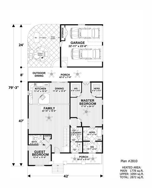 Lower Floorplan image of Featured House Plan: BHG - 7380