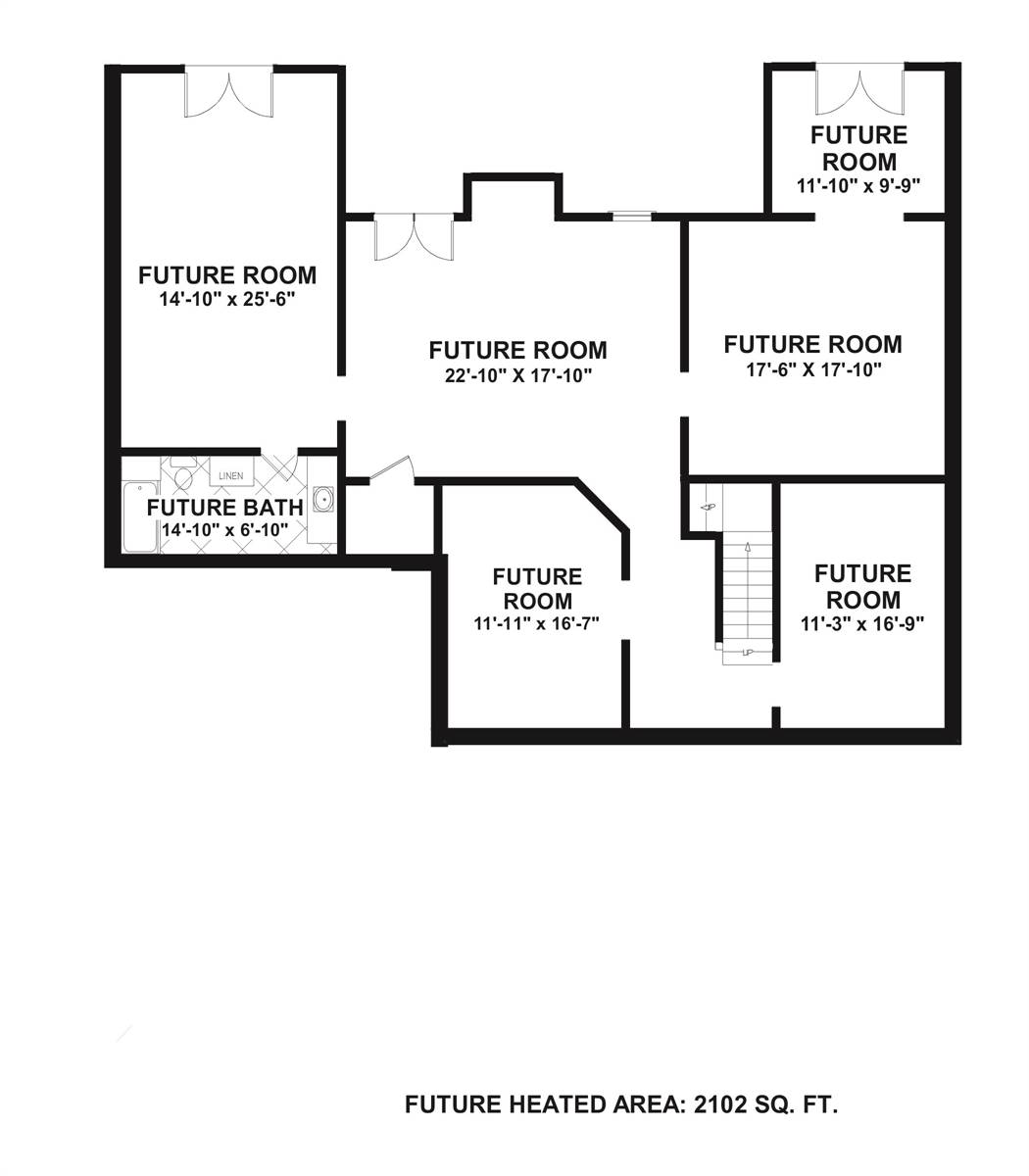 Basement Plan image of Featured House Plan: BHG - 7892