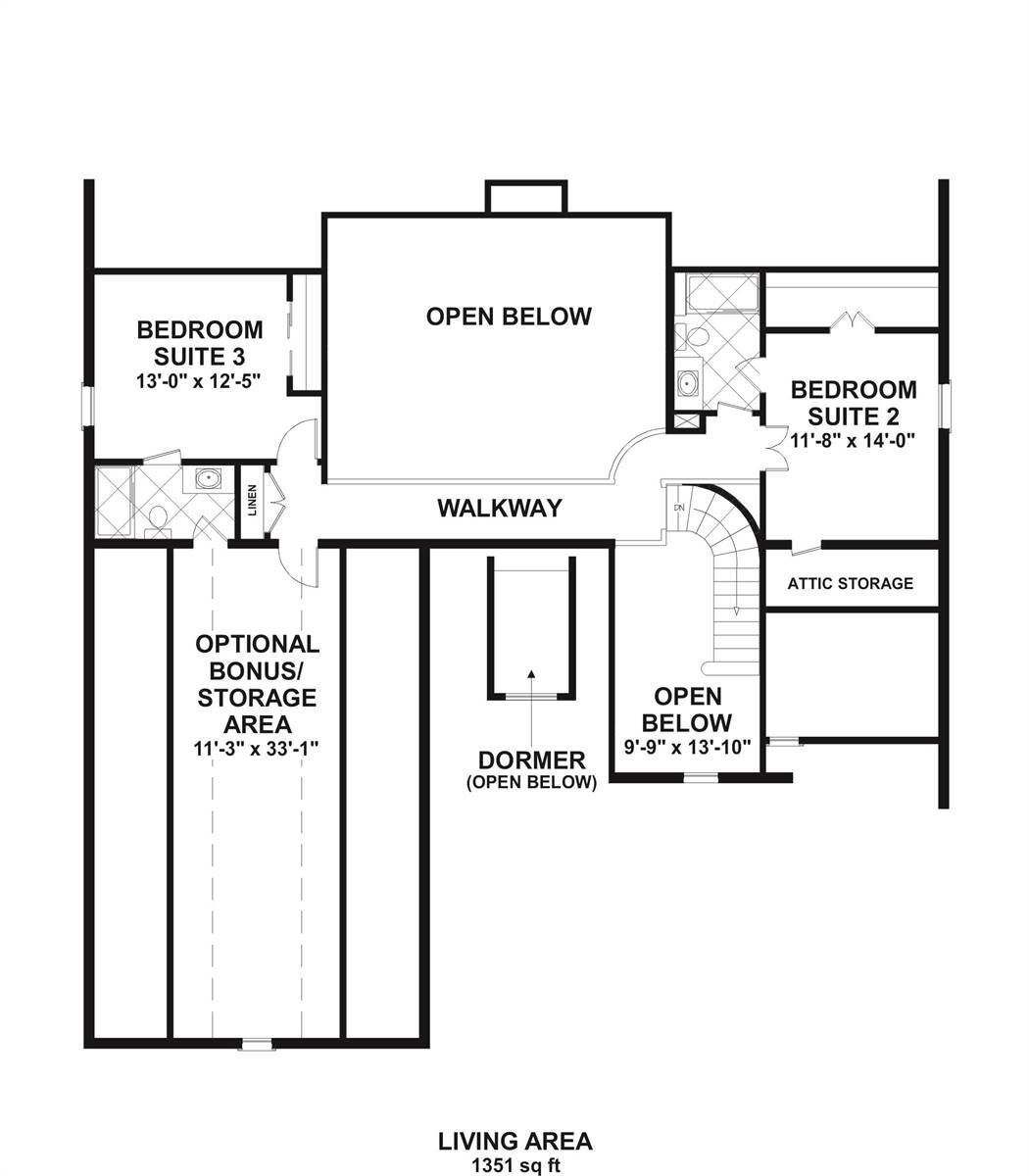 2nd Floor image of Featured House Plan: BHG - 7892