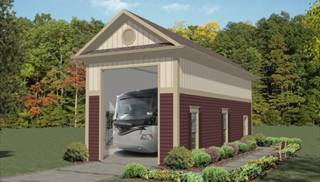 image of Boat-RV Garage Two House Plan