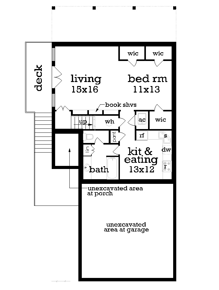 Optional Finished Walk Out Basement - Bonus Space image of Featured House Plan: BHG - 1162