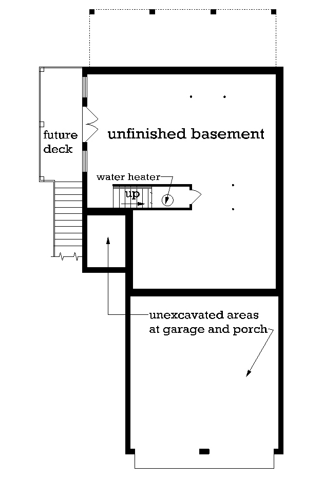 Unfinished Walk-out Basement Foundation image of Featured House Plan: BHG - 1162