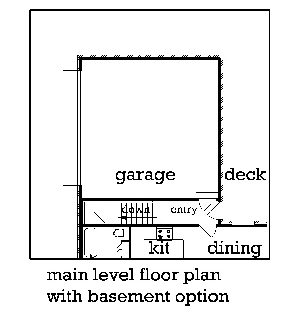 Optional Basement stair location image of Featured House Plan: BHG - 3549