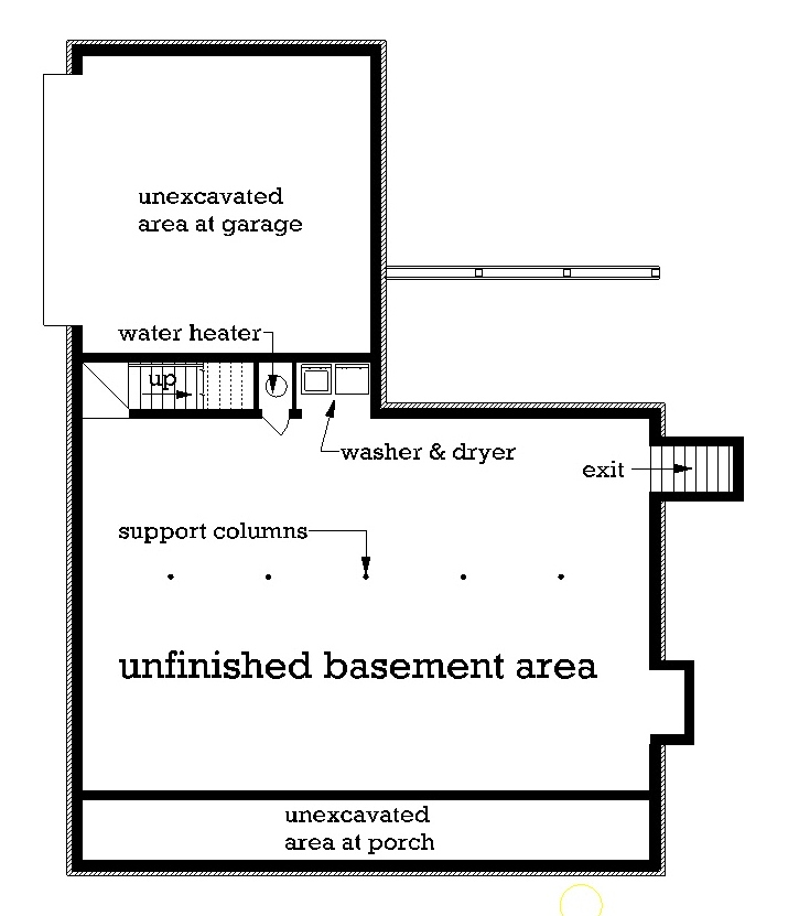 Optional Basement Foundation image of Featured House Plan: BHG - 3549
