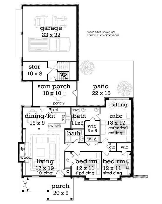 First Floor Plan image of Featured House Plan: BHG - 5959