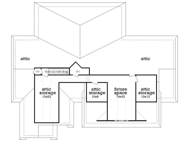 Upper Level Future Space image of Featured House Plan: BHG - 7253