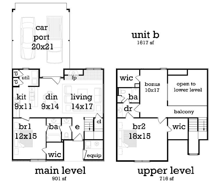 Unit B image of Featured House Plan: BHG - 9188