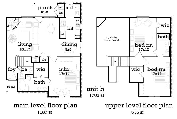 Unit B image of Featured House Plan: BHG - 9195