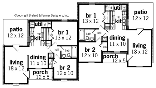 First Floor Plan image of Featured House Plan: BHG - 7311