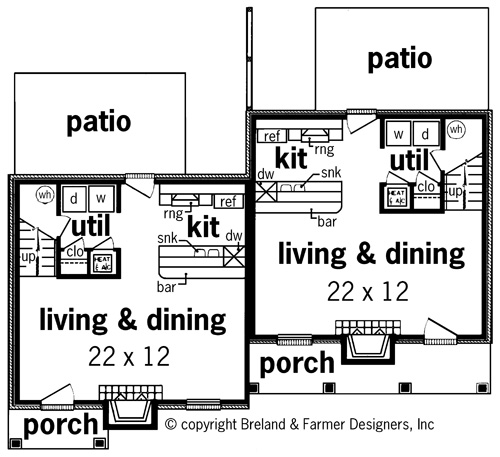 First Floor Plan image of Featured House Plan: BHG - 7313
