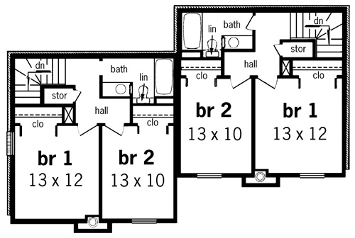 Second Floor Plan image of Featured House Plan: BHG - 7313