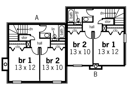 Second Floor Plan image of Featured House Plan: BHG - 7314