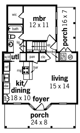 First Floor Plan image of Featured House Plan: BHG - 8324