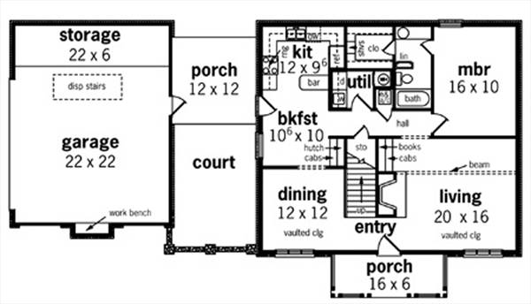 First Floor Plan image of Featured House Plan: BHG - 8326