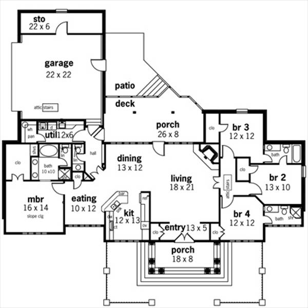 Floor Plan image of Featured House Plan: BHG - 7657