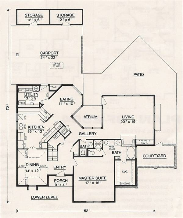 First Floor Plan image of Featured House Plan: BHG - 3002