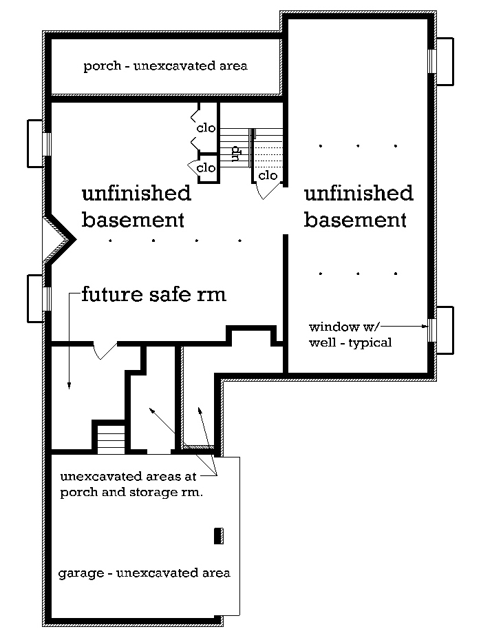 Optional Basement Foundation image of Featured House Plan: BHG - 4826