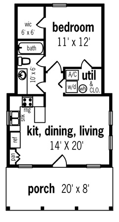 First Floor Plan image of Featured House Plan: BHG - 7104