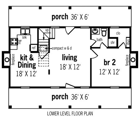 First Floor Plan image of Featured House Plan: BHG - 7118