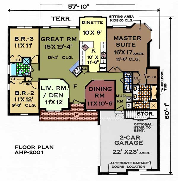 Floor plan image of Featured House Plan: BHG - 5652