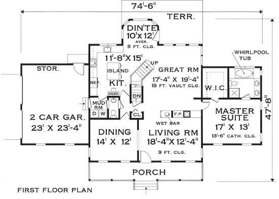 first floor image of Featured House Plan: BHG - 5812