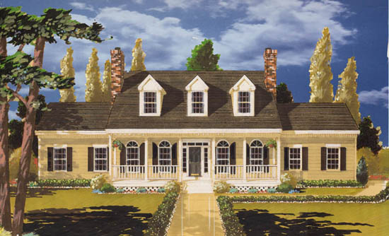 Gracious Country Home House Plan