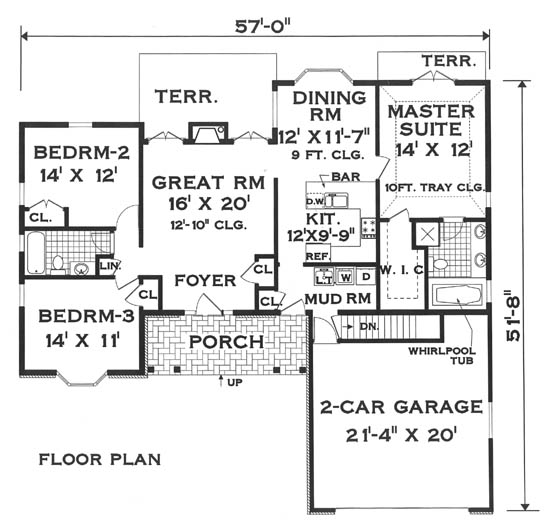 Floor plan image of Featured House Plan: BHG - 5811