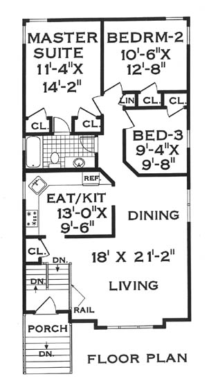 second floor image of Featured House Plan: BHG - 5806