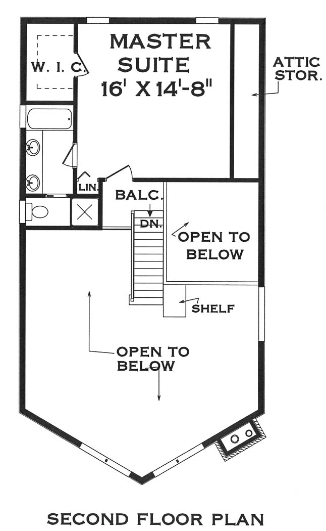 second floor image of Featured House Plan: BHG - 5631