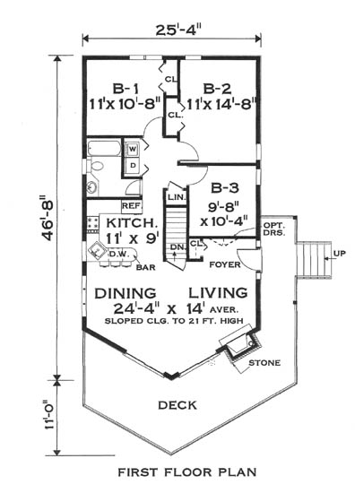 Floor plan image of Featured House Plan: BHG - 5797