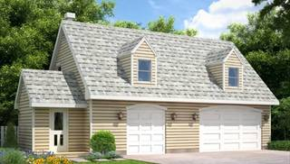 image of Garage with rental apartment House Plan