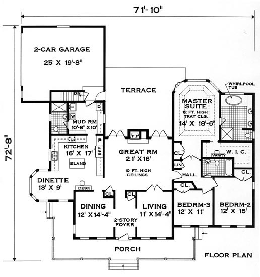 Floor plan image of Featured House Plan: BHG - 8366