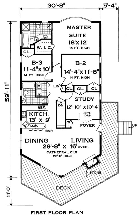 Upper floor image of Featured House Plan: BHG - 8368