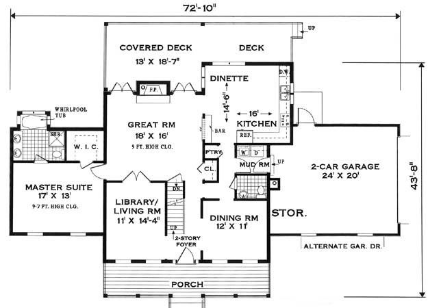 first floor image of Featured House Plan: BHG - 7644
