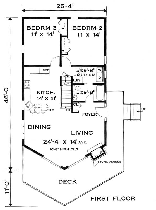 first floor image of Featured House Plan: BHG - 7686