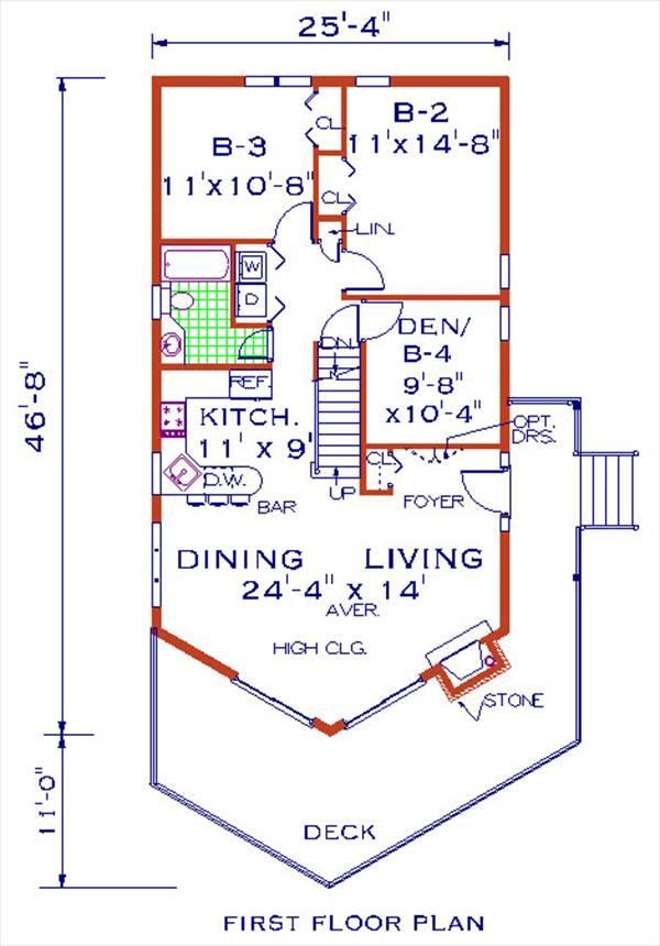 first floor image of Featured House Plan: BHG - 1139