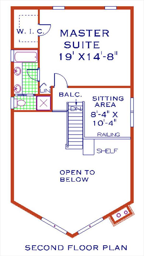 second floor image of Featured House Plan: BHG - 1139