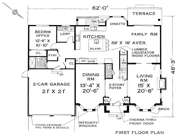First Floor Plan image of Featured House Plan: BHG - 4711