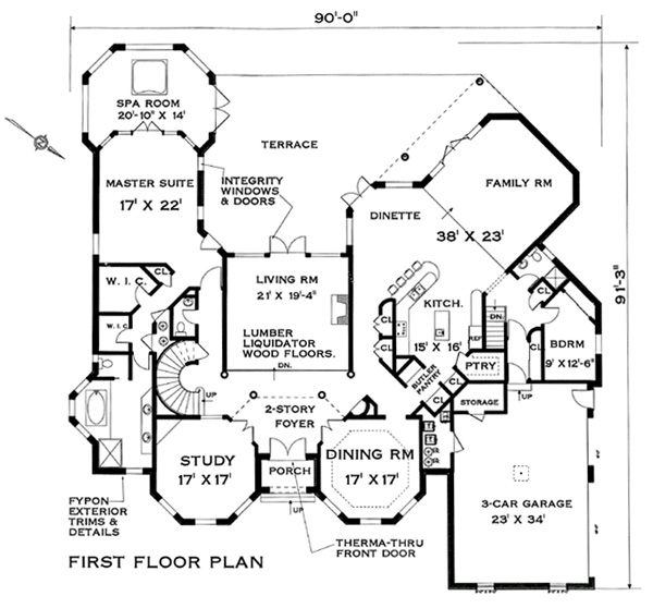 First Floor Plan image of Featured House Plan: BHG - 4712