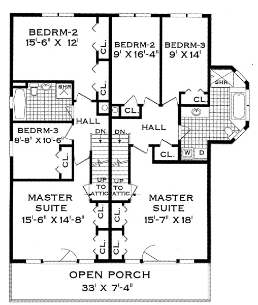 Second Floor Plan image of Featured House Plan: BHG - 4285