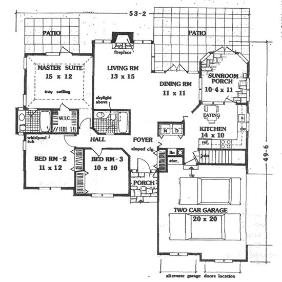 Floor plan image of Featured House Plan: BHG - 5643