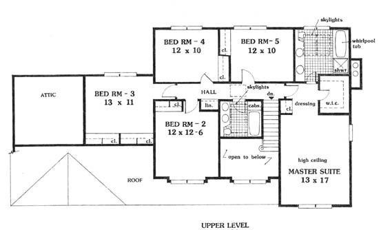 second floor image of Featured House Plan: BHG - 5645