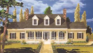 image of Southern Country 5 bedrooms House Plan