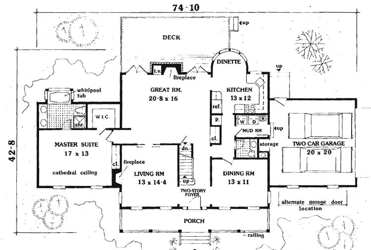 first floor image of Featured House Plan: BHG - 6992