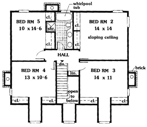 second floor image of Featured House Plan: BHG - 6992