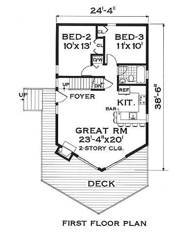first floor image of Featured House Plan: BHG - 5647