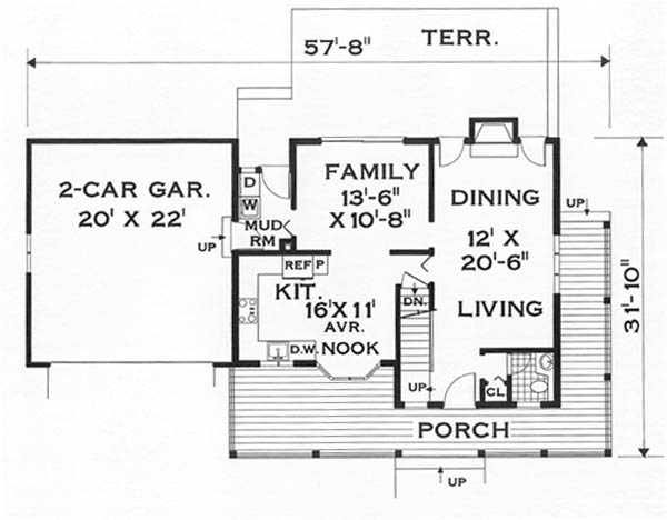 first floor image of Featured House Plan: BHG - 5648